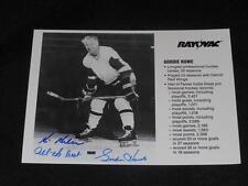 HOF Mr Hockey Gordie Howe Signed Rayovac Issued 7x5 Autograph Photo Card  JB10