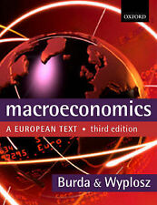 MACROECONOMICS: A EUROPEAN TEXT., Burda, Michael & Charles Wyplosz., Used; Very