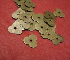 100pc 7mm antique bronze flower shape sequin bead-3960