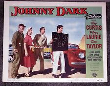 FIBERGLASS SPORTS CAR AUTO RACING orig1954 movie lobby card poster JOHNNY DARK