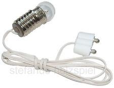 Fassung E10 mit Kabel+Stecker für Puppenhausbeleuchtung 3,5V, Puppenhaus-Lampe