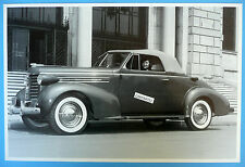 """12 By 18"""" Black & White Picture 1937 Oldsmobile Convertible Top Up Olds"""