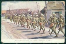 Militari Soldats Hindous WWI Pubblicitaria Rigaud cartolina XF8298
