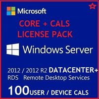 Microsoft Windows Server 2012 R2 DATACENTER + 50 USER CALs + 50 DEVICE CALS