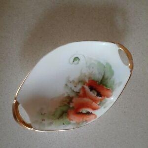 Bavaria Hand Painted Trinket Dish Poppies