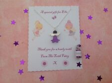 Tooth Fairy Necklace, Personalised, Fairy Dust, Tooth Fairy Gift Purple Necklace