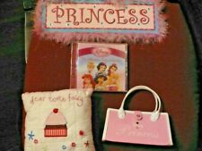 Princess lot, DOMINOES, CD, glasses case, picture & tooth fairy pillow, tattoo