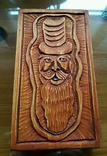 Green Man Pagan Spirit of Forest Hand Made Wood Carving 9 x 16cm
