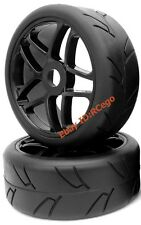2pcs RC 1/8 On road Tires Soft tyres & Wheels Hex 17mm for 1:8 Redcat HPI Racing