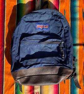 Vintage Jansport Backpack 90s Leather Bottom
