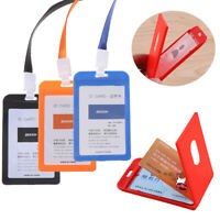 Work Card Holders With Rope Silicone Card Holder Employee Name ID Card Cover *