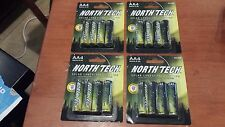 16 AA Rechargeable Battery Solar Landscape Light North Tech NEW! - lot of 4 pks