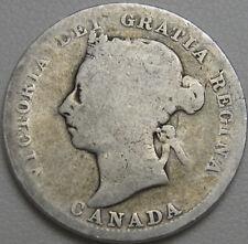 1900 25C Canada 25 Cents, Canadian Quarter, Silver Quarter, Silver, #11141