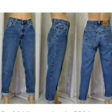 Vintage Levi`s 560 Loose Tapered Mom Jeans UK Size 12 / W32 L32 High Waisted