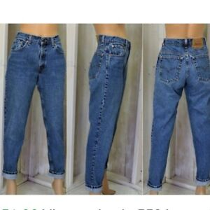 Women`s Vintage Levi`s 560 Loose Tapered Fit Jeans UK 16 / W36 L30 High Waisted