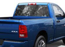 Broken window Crack imitation Rear Window Decal Sticker Pick-up Truck SUV Car
