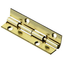 "Jewelry Box Stop Hinge - 2"", Brass Plated"