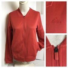 Adidas Women Sport Wear Sweatshirt Jacket Zip Up Orange Size Medium