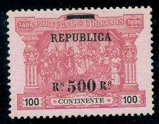 PORTUGAL #198 500r on 100r Vasco de Gama, surcharged and overprinted in black LH