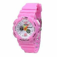 EXPONI Women's Pink PVC Plastic Strap Sports Watch 3212ME-PK