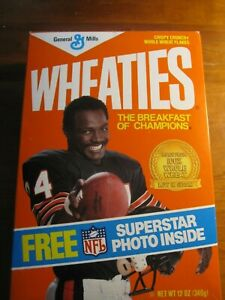 NEW Full  Wheaties Box Walter Payton Chicago Bears 1 *rp*