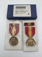 National Defense Medal Set US Lot Of 2 Ribbon Bar Vintage 1991 451B