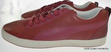 Puma Urban Mobility Glide Lo Red Leather Shoes Low Top Sneakers Mens US sz 11.5