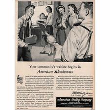 1947 American Seating Company: American Schoolrooms Vintage Print Ad