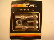"Mr. Gasket Co. Mag Wheels Nuts #1761 1/2"" R.H.Extra Long - Chrome NOS Sealed Set"