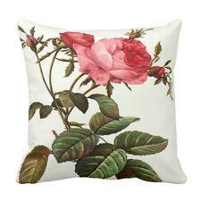 "Throw pillow 16"" x 16""- Rose Flower Spring Decor, Redoute Botanical"