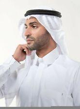 White Arafat arab scarf shawl Keffiyeh Kafiya shemagh  palestine +Igal Agal set