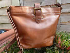 FAT FACE tan brown REAL LEATHER cross body bag, excellent condition