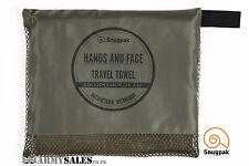 Snugpak antibactérien voyage serviette mains & visage dans armée vert olive
