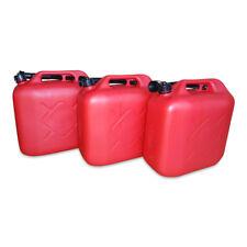 3 x 20 L Kraftstoffkanister Benzin Reserve Kanister Tank UN-Zulassung rot NEU