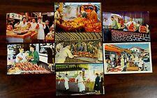7 Postcards CRAB STANDS FISH MARKET FISHERMAN'S WHARF SAN FRANCISCO CA 1940s 50s