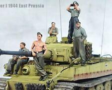 1:35 German Panzer Tiger Tank Crew World War 2 (WW2) 5 Figures Resin Model Kit