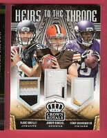 JOHNNY MANZIEL TEDDY BRIDGEWATER #d 3 ROOKIE JERSEY PATCH CARD BLAKE BORTLES #d