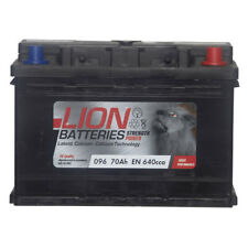 Lion Batteries Car Battery 12V 70Ah Type 096 640CCA Sealed 3 Years Warranty