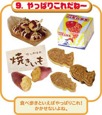 Re-ment dollhouse miniature sweet potatoes fried squid balls fish-shaped cakes