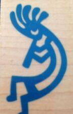 Rubber Stamp Kokopelli Fertility Diety Card Craft Scrabooking Baby Making
