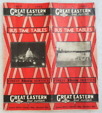 Great Eastern Bus System Time Tables 1933
