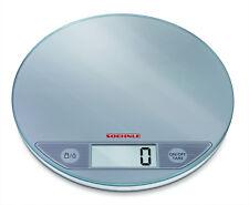 Escala de cocina de Cristal Redondo Plata Digital Táctil Electrónica LCD Peso Postal