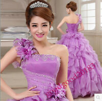 New Lady Wedding Gown Quinceanera Dress Formal Pageant Ball Dresses Bridal party