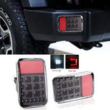 2x Rear Bumper Tail Reversing LED Lights Backup Lamps for Jeep Wrangler JK 07-16