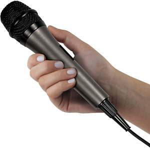 Singing Machine SMM-205 Unidirectional Dynamic Microphone with 10 Ft. Cord,Black