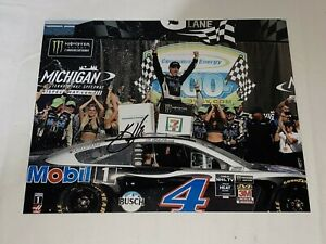 Kevin Harvick MICHIGAN VICTORY LANE MONSTER ENERGY 8x10 #4 autographed photo