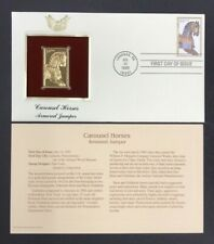 CAROUSEL HORSES Armored Jumper 1995 FDC #2978 22kt Golden Replica 32c Stamp