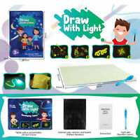 Draw With Light Drawing Board Fun Developing Toy Kids Educational Magic Painting