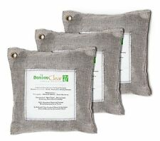 Bamboo Charcoal Air Purifying Bags,Silver for Remove Toxic Bacteria,Odors-3x500g