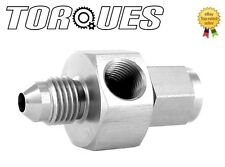 "AN-4 (4AN) Male To Female 1/8"" NPT Side Port Stainless Steel Gauge Adapter"
